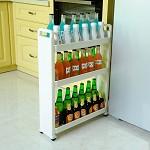宝优妮 DQ-1308 厨房调味料品置物架 三层移动夹缝收纳层架缝隙储物架