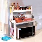 宝优妮 DQ-1305 厨房微波炉架子置物架 落地厨具用品杯子收纳架挂架调味架