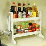 宝优妮 DQ-1306 厨房调味料品置物架 收纳架 厨具用品层架储物架双层整理架挂架