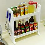 宝优妮 DQ-1402-1 厨房调味料瓶品置物架 浴室化妆台收纳盒 桌面整理架卧室化妆盒