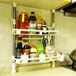宝优妮 DQ-1407 厨房调料架置物架 调料瓶收纳架双层厨具储物架刀架调味架