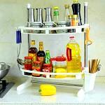 宝优妮 DQ-0936-3 调料架厨房置物架落地收纳架储物架双层调味架刀架厨房用品