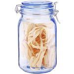 喜碧(Scybe)玻璃储藏瓶 贝吉玻璃储物密封罐1500ml 宝石蓝色