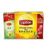 立顿(Lipton)茶叶 红茶 黄牌精选红茶100包 200g(新老包装随机发货)
