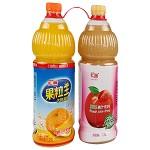 汇源(huiyuan) 果汁饮料(果粒王橙味1.25L*1+纤果园桃味1.25L*1)