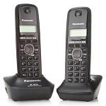松下(Panasonic) KX-TG12CN-2 数字无绳双子机电话机 碳色灰