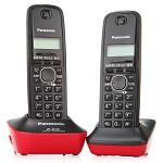 松下(Panasonic) KX-TG12CN-2 数字无绳双子机电话机 靓丽红