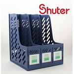 树德(Shuter)S903L A4三格资料架 蓝色