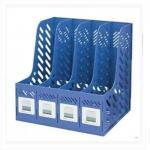 树德(Shuter)S904L A4四格资料架 蓝色
