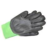 3M 舒适型防滑耐磨手套劳保劳防手套/防护手套/丁腈掌浸手套 多色 绿色 L