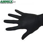 爱马斯ammex 加厚纹身防油耐酸碱一次性丁晴手套耐油 耐磨劳保手套 一次性黑色丁腈手套  GPNBC 44100 M码