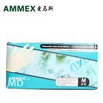 愛馬斯(AMMEX) 一次性醫用手套乳膠TLCMD橡膠作業檢查有粉防滑工業勞保實驗食品家務牙科清潔用 TLCMD(M碼)