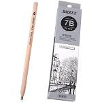 宝克(BAOKE)PL1647 办公绘图铅笔 绘画素描铅笔 多灰度 7B 12支装