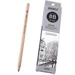 宝克(BAOKE)PL1648 办公绘图铅笔 绘画素描铅笔 多灰度 8B 12支装