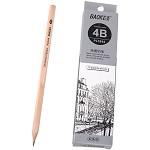 宝克(BAOKE)PL1644 办公绘图铅笔 绘画素描铅笔 多灰度 4B 12支装
