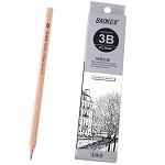 宝克(BAOKE)PL1643 办公绘图铅笔 绘画素描铅笔 多灰度 3B 12支装