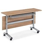 格诺瓦 格莱系列18P1203 橡木+暖白折叠条桌 1200*400*750