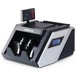 齐心(COMIX)JBYD-6688(B) 大总管智能语音点钞机 验钞机 双屏5磁头8对红外 黑银色