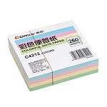 齐心(COMIX)C4212 彩色便签纸(94*87mm) 颜色随机