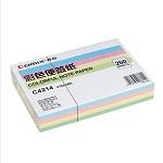 齐心(COMIX)C4214 彩色便签纸(147*101mm) 颜色随机