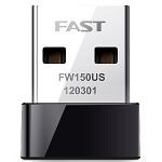 迅捷(FAST)FW150US 迷你USB无线网卡 台式机笔记本随身wifi接收器
