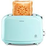 北欧欧慕(nathome)NDS3019 家用多士炉烤面包机 蓝色