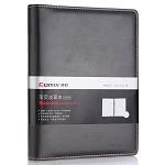 齐心(COMIX)C5825 皮面笔记本 25K 80张 黑色