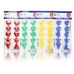 富尼(FUNI)CT-969 白板磁扣 心形套装磁粒 10粒/片 颜色随机