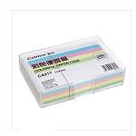 齐心(COMIX)C4217 彩色便签盒(配纸147*101mm) 透明