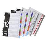 金得利(KINARY)T005A-P 胶质分页纸 彩色分类索引卡 5页分页纸隔页纸