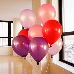 彩色加厚珠光拱門氫氣球 混色100個