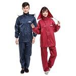 金锋 双层防雨透气 网内衬雨衣分体式雨衣休闲雨衣雨裤