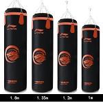 李寧(LI-NING)LXWK046-2 拳擊沙袋 吊式沙袋 家用健身武術散打實心沙包 1.35米 黑色