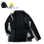 代尔塔(DELTA)jacket男士夹克外套柔软防寒防水秋冬男装圆领 CE认证 405404 黑色 XL