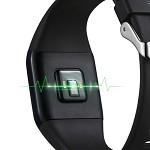 乐心(LIFESENSE)Mambo watch 智能手表 智能手环 心率检测 来电提醒 睡眠监测 运动计步防水 黑色