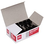 得力(deli)9545 5#长尾票夹19mm盒装 黑 12只/盒