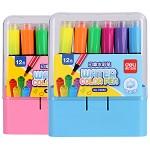 得力(deli)70652 大容量印章可洗水彩笔 混色 12支/盒