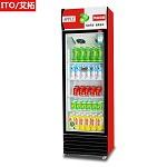 艾拓(ITO)IT-020 300L 单门大容积立式展示柜 风冷直冷陈列柜 冷藏饮料柜 保鲜柜商用冰箱(红黑) 其他制冷电器