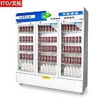艾拓(ITO)IT-020 918L 三门大容积立式展示柜 风冷直冷陈列柜 冷藏饮料柜 保鲜柜商用冰箱(蓝白) 其他制冷电器