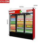 艾拓(ITO)IT-020 918L 三门大容积冰柜展示柜商用 风冷直冷陈列柜 冷藏饮料柜 保鲜柜商用冰箱(红黑) 其他制冷电器