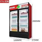艾拓(ITO)IT-020 618L 双门大容积立式展示柜 风冷直冷陈列柜 冷藏饮料柜 保鲜柜商用冰箱(红黑) 其他制冷电器
