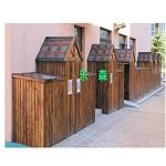乐森  高端幼儿园实木室外收纳架 实木收纳柜