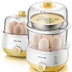 小熊(Bear)ZDQ-A14R1 煮蛋器 双层家用蒸蛋器 定时早餐机 14个蛋