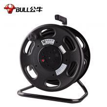 公牛(BULL)GN-806D 拖线盘 移动电缆卷盘缠绕盘电源座 3*2.5平方 30米线