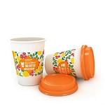 美灵宝(MerlinBird)特调柠檬红茶 12盎司350ML 中空食品级白卡杯 64杯/箱