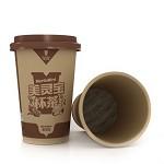 美灵宝(MerlinBird)美灵宝养生茶 12盎司350ML 中空木浆杯 64杯/箱