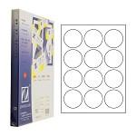 卓联(ZHUOLIAN)ZL2712A 电脑打印标签 12格 直径63.5mm 100页/盒 白色