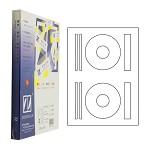 卓联(ZHUOLIAN)ZL2702A 电脑打印标签 2格 直径115mm 100页/盒 白色