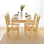 家逸 实木简约餐桌组合 一桌四椅