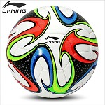 李寧(LI-NING)AFQK052-1 防滑耐磨比賽足球 5號 白藍色